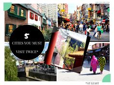 5 cities you must visit not once, but at least twice! #wanderlust #travel