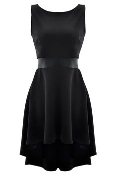 575350847c Suave Black High-Low Midi Dress - OASAP.com