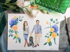 Watercolor Wedding Painting / Wedding Portrait Painting / Custom Couple Illustration / Wedding Anniversary Gift for Him / Stationery — Mary Paints Weddings Wedding Painting, Watercolor Wedding, Watercolor Portrait Painting, Couple Illustration, Anniversary Gifts For Him, Wedding Portraits, Wedding Details, Wedding Invitations, Stationery