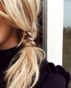 side pony / braid Tresse coiffure cheveux longs