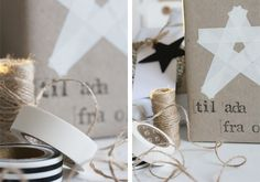make star with masking or washi tape - so creative!