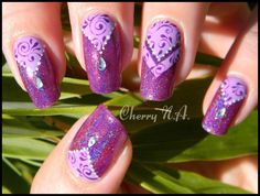 Elegant nail art with rhinestones