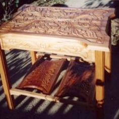 Outdoor Furniture, Outdoor Decor, Bench, Carving, Home Decor, Decoration Home, Room Decor, Wood Carvings, Sculptures