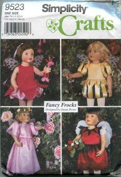 "Simplicity 8962 OOP 18/"" Doll Wardrobe /& Accessories Pattern"