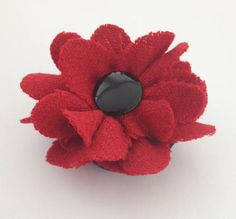Red Poppy Brooch Harris Tweed Poppy Red Poppy Handmade