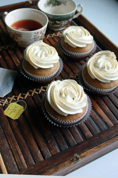 Earl Gray Tea Cupcakes; Camilla made these for our wedding, and they're amaaaazing.