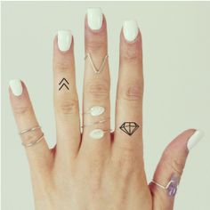 20 X Symbolic Temporary Tattoo Pack Chevron Festival Moon Triangle | eBay