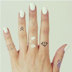 20 X Symbolic Temporary Tattoo Pack Chevron Festival Moon Triangle | eBay