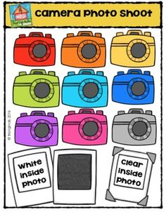 camera photo shoot clip art freebie