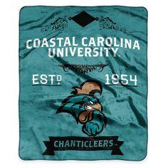 product image for NCAA Coastal Carolina University Super Plush Raschel Throw Blanket