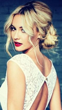 Graceful Lower Messy Updo Hairstyle