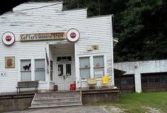 Old General Stores, Old Country Stores, Old Gas Stations, Filling Station, Old Buildings, Store Fronts, Grocery Store, Arch, Old Things