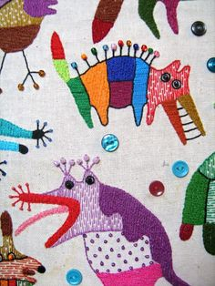 Textile work (85x95sm.) Styky bryky by Ivan Semesyuk, via Behance