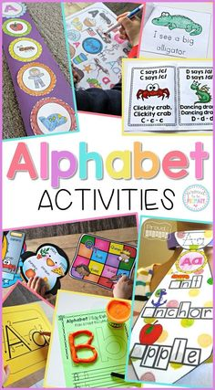 Looking for engaging ways to teach kids the alphabet? Help little learners at school in preschool and Kindergarten master the alphabet and their letter sounds with these fun and easy to implement letter and phonics activities!