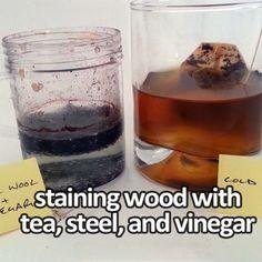 Staining wood with tea, steel & vinegar...