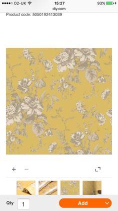 Habitat Star Flower Wallpaper Mustard Home Wallpaper Flower Wallpaper Habitat Wallpaper