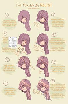 Hair coloring tutorial by Quiss.deviantart.com on @DeviantArt ...
