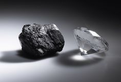 DYK: Diamonds are made of nearly carbon. Carbon atoms bond under the immense heat and pressure far below the earth's surface. Rough Diamond, Geology, Rings For Men, Stud Earrings, Jewels, Gemstones, Diamond Quotes, Quotes About Diamonds, Minerals