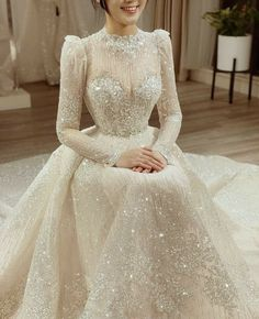 Dream wedding dress Calla Haute Couture Design by Phuonglinh Muslimah Wedding Dress, Hijab Wedding Dresses, Dream Wedding Dresses, Bridal Dresses, Romantic Bohemian Wedding Dresses, Fashion Dresses, Dress Outfits, Weeding Dress, Frack
