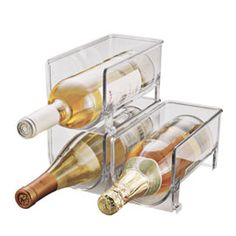stackable wine holders for the fridge!