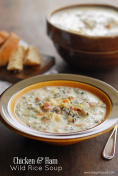 Make this Chicken and Ham Wild Rice Soup recipe with your leftover ham from your Easter dinner!