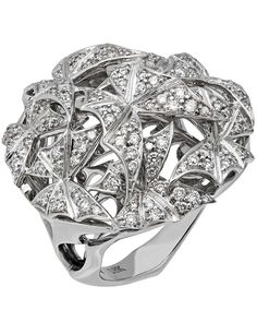 ShopWorn™ STEPHEN WEBSTER - 'Fly By Night' 18K White Gold (16.02gm) ring, full pave White Diamond (179pc/1.42ct). Total weight 16.30gm - 3016926001 Retail $14,850.00
