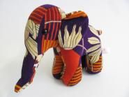 This unique elephants are made with love and a lot of care in germany. In theire life before they started as a terry bath towel, terry bath robe or a terry curtain. They lived before in the 60th and 70th century. Today you call this re-used or upcycling design.