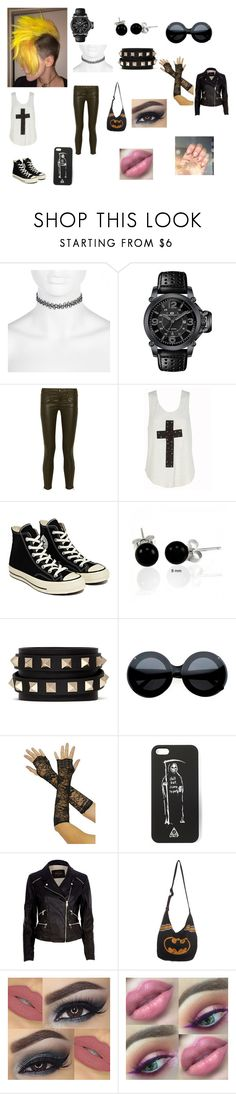 """Dynamic chick"" by scorpio-queen ❤ liked on Polyvore featuring River Island, Oceanaut, Current/Elliott, Converse, Bling Jewelry, Valentino and Hot Topic"