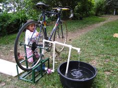 Pumping water is just one of the many tasks you can accomplish with pedal power... here's a collection of projects we've found.