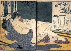 Kitagawa, Utamaro, lovers in a peaceful an elegant attitude