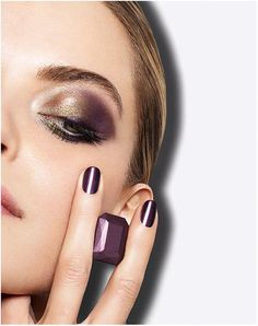 Lancome French Idole Fall 2014 Collection. Gold, purple and olive green. I couldn't have thought about this on my own.