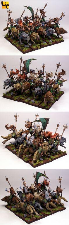 Warhammer FB | Wood Elves | Sister of Thorn Warhammer Wood Elves, Warhammer Fantasy, Fantasy Paintings, Mini Paintings, Warhammer 40000, Warhammer Aos, Minis, Age Of Sigmar, Wood Elf