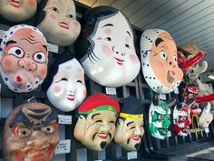 Masks for sale in Asakusa