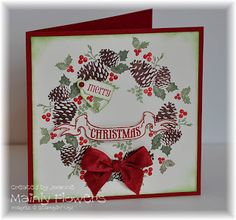 pines poinsettias stampin up