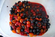 Booze 'n' Berries -- Sangria, a summertime favorite, is sweetened wine spiked with brandy, triple sec, or some other kind of spirit, to which pieces of fruit are typically added. A pleasant drink, indeed.