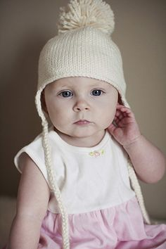 Earflap hat 0 mths to 7 years - free pattern