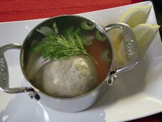 Will try this when I have 15 hours to spare!     Chicken Soup with Matzo Balls from FoodNetwork.com