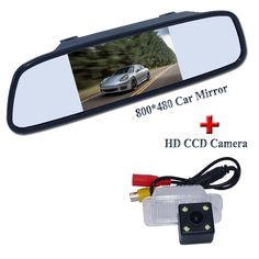 "Suitable for FORD-Focus Hatchback/ Mondeo Fiesta car rear reversing camera +car rear mirror bring 4.3"" screen universal type"