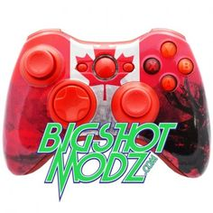 """Xbox 360 Custom Controller Country Series """"Canada"""" - New Products by bigshotmodz.com"""