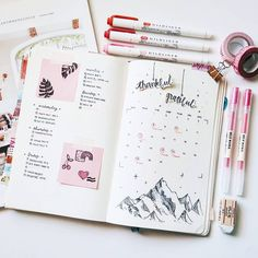 """6,221 Likes, 44 Comments - Bullet Journal (@studywithinspo) on Instagram: """"5:13 ~ 2.24.17 // I'm going to watch """"la la land"""" i heard it was a really good movie ☕ . .…"""""""