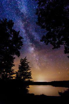 Milky Way Over Northwoods Lake, Boulder Junction, Wisconsin
