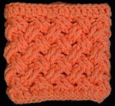 Crochet : Punto Entrecruzado (Tejido de Cesta) Translated : crosslinked point (basket weave) This is the most gorgeous stitch I have ever seen!