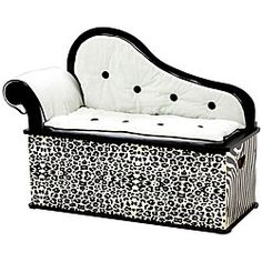 @Overstock - Add beauty and function to your child's room with this stylish storage bench seat. Crafted to look like an old-fashioned fainting couch, this bench provides a fun place to sit that lifts up to reveal storage for toys and stuffed animals.http://www.overstock.com/Home-Garden/Wild-Side-Storage-Bench-Seat/4383812/product.html?CID=214117 Add to cart to see special price