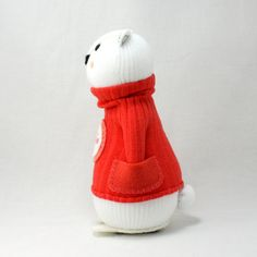 Reserved for Emma Polar Bear Sock Doll called Jessie by