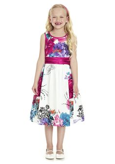 Clothing online at Tesco | F Floral Prom Dress - Online Exclusive, Spring Summer 2013, AVAILABLE NOW.
