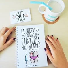 """Libreta A5 """"La enfermera con mayor puntería del mundo"""""""