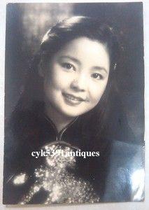 Old Taiwan Hong Kong Singer Actress Teresa Teng Signed Photo $711