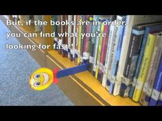 Great Idea! Sammy the Shelfmarker-video to help teach kids how to use school library