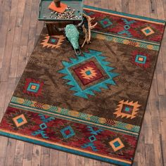 Check out Lone Star Western Decor today and take a look at our tremendous inventory of Southwest rugs, for example this 8 x 11 Whiskey River Turquoise Rug!