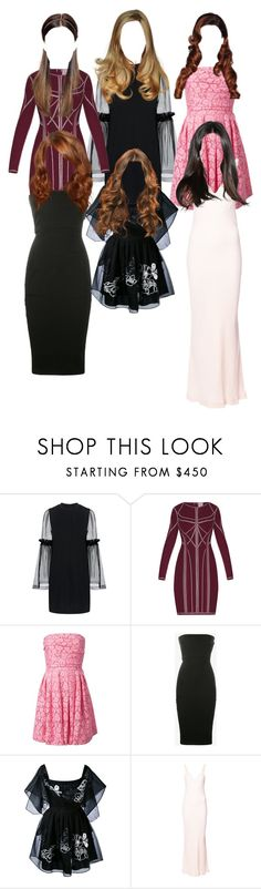 """""""Untitled #5238"""" by aurorazoejadefleurbiancasarah ❤ liked on Polyvore featuring Mother of Pearl, Hervé Léger, Moschino Cheap & Chic, Rick Owens, Fendi and Haider Ackermann"""